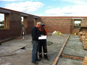 Подготовка к перекрытию 1го этажа